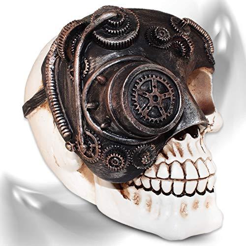 mtb more energy Deko Totenkopf ''Steampunk Francis'' Totenschädel Figur Dekoration
