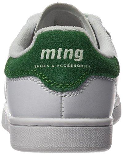 MTNG Attitude (MTNG8) Unisex, bambini 69680 Scarpe da Ginnastica Basse Multicolore (Action Pu Blancoserraje Pu Verde)