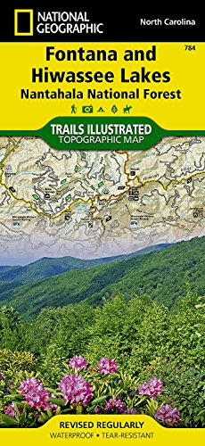 Fontana & Hiwassee Lakes: National Geographic Trails Illustrated USA Südosten (National Geographic Trails Illustrated Map, Band 784)