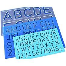 341b4f82f0 50 mm 30 mm 20 mm stencil con lettere numeri alfabeto ...