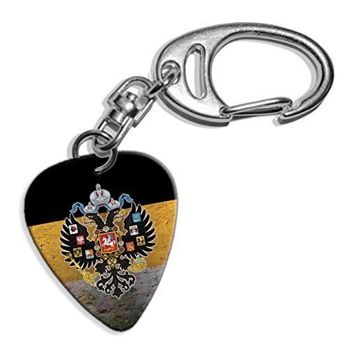 Russian Imperial Eagle Russia Empire Flag Logo Gitarre Plektrum Pick Schlusselanhanger Keyring (GD) (Imperial Empire-logo)