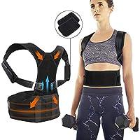JTENG Haltungstrainer, Geradehalter zur Haltungskorrektur Körperhaltungs-Korrektor für Schulter Rückenstütze - Rückentrainer Gegen Nacken und Schulterschmerzen für Damen und Herren (Bust : 95-115cm)