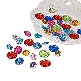 PandaHall 144 Stück Bunt Acryl Kristall Strass Knöpfe für DIY Kleidung Kleid Dekorationen Gemischte Farben