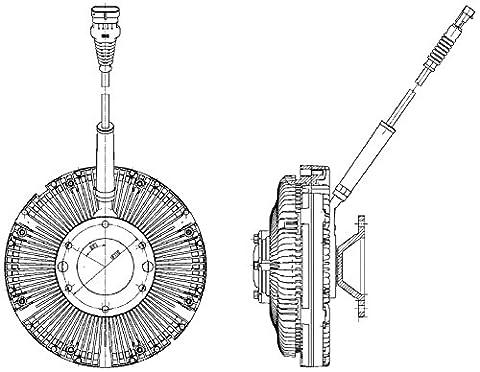 Hella 8MV 376 734-781 Clutch, Cooling Fan