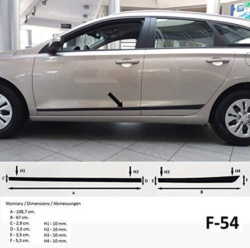Autoclover Lot de 4 d/éflecteurs dair pour Hyundai i30 2012-2016
