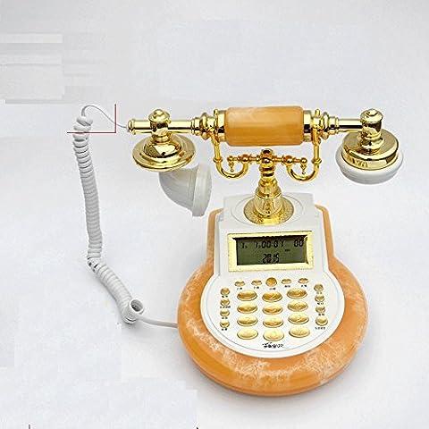 SJMM Téléphone rétro antique, la mode européenne, creative home, la téléphonie fixe, Orange