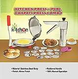 #8: Kitchen Khajana™ Stainless Steel Kitchen Press + Puri, Chapati Press Combo
