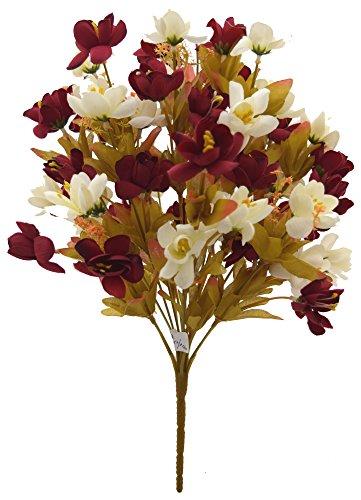 Fourwalls Artificial Flower Bouquet (20 cm x 20 cm x 44 cm,...
