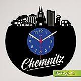 Gravinci.de Schallplatten-Wanduhr Chemnitz Skyline