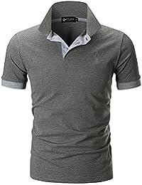 STTLZMC Polo Homme Manche Courte Slim Fit Poloshirt Casual Col Contrasté S-XXL