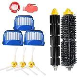 Yosahaw Es aplicable a de accesorios del kit de cepillo de repuesto para iRobot Roomba 600 Series 585 589 600 605 610 615 616 620 621 625 630 631 632 639 650 651 660 670 680 681 etc -A Kit de 10 pcs