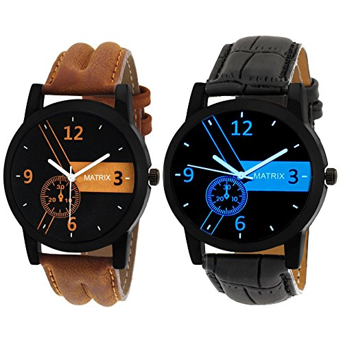 Matrix Analog Combo of Black & Blue Dial Men\'s Watch-PR-170-192