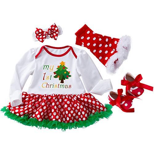 Vertvie Herbst und Winter Weihnachten Baby Anzug Halloween-Kostüm Röcke Kinderbekleidung Kleinkind Vier Stück(Set 4, XL80)