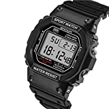 Generic SANDA 329 Fashion LED Display Men Watch Waterproof Sport Digital Watch