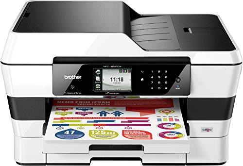 Brother MFC-J6920DW 4-in-1 Farbtintenstrahl-Multifunktionsgerät (Drucker, Scanner, Kopierer, fax, 600 x 1200 dpi, USB 2.0, Duplex) schwarz/weiß -