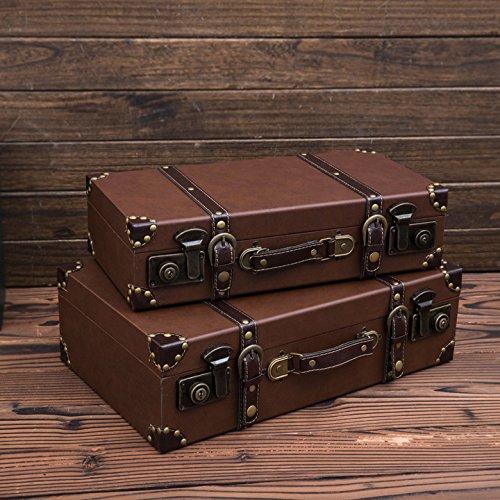 BSQDJ-ornamentos, adornos de Vintage, Vintage maleta maleta de ornamen