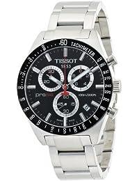 Tissot T0444172105100 - Reloj cronógrafo de caballero de cuarzo con correa de acero inoxidable plateada