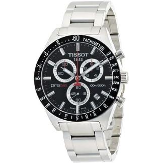 Tissot T0444172105100 – Reloj cronógrafo de caballero de cuarzo con correa de acero inoxidable plateada