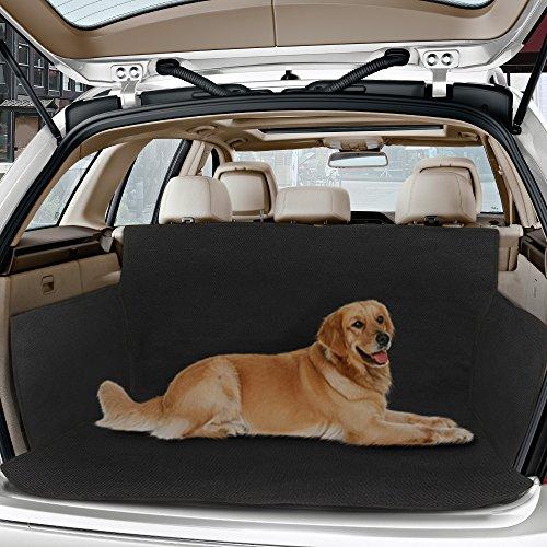 Topist Kofferraumschutz Hunde, Wasserdicht Hundedecke Auto, Rutschfest Kofferraumdecke mit Seitenschutz, Autoschondecke für Hunde und Verschiedenes, Schützt Auto Suv vor Kratzern, Schmutz und Tierhaaren - 61