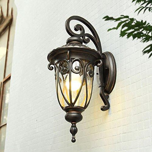 (Wasserdicht Wandleuchten,Retro wandleuchte,Outdoor Wandlampen Korridor Gang-lights Europäischer stil Outdoor Balkon lichter Gateway Terrasse laternen-Mittel 31x23x59cm(12x9x23inch))
