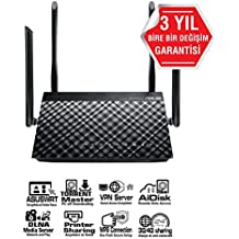 Asus DSL-AC52U Modem Router Wi-Fi, Dual-Band AC750, ADSL/VDSL, 1 Porta USB, 4 RJ45 Gigabit,2 WAN e Supporto ADSL, Fibra, 3G/4G LTE, 4 Antenne Esterne