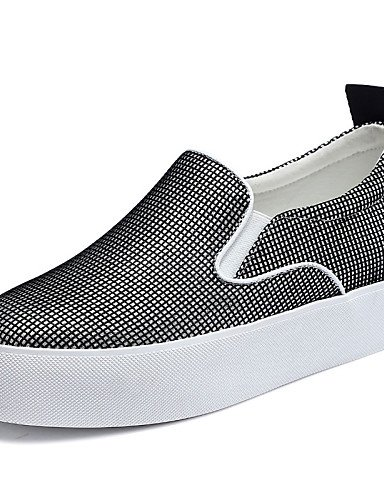 ZQ Scarpe Donna - Mocassini - Matrimonio / Ufficio e lavoro / Formale / Casual / Serata e festa - Creepers - Plateau - Sintetico -Nero / , gray-us8.5 / eu39 / uk6.5 / cn40 , gray-us8.5 / eu39 / uk6.5  gray-us8.5 / eu39 / uk6.5 / cn40
