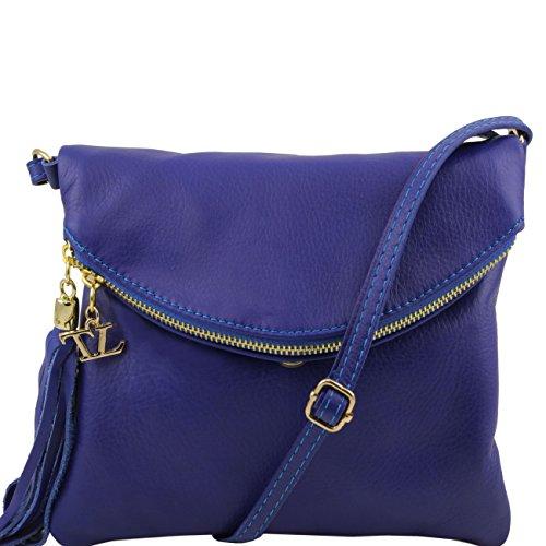 Tuscany Leather TL Young Bag - Borsa a tracolla con nappa Nero Borse donna a tracolla Blu