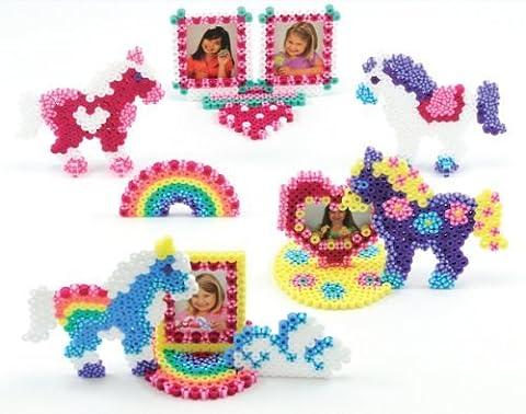 Perler Beads Fused Bead Kit, Rainbow Pony Frames by Perler