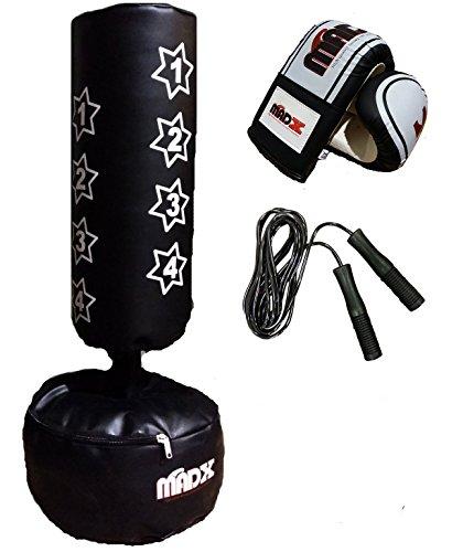 MADX Sac de frappe sur pied avec gants de boxe pour enfant by MADX