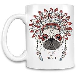 Indian pug Taza para café
