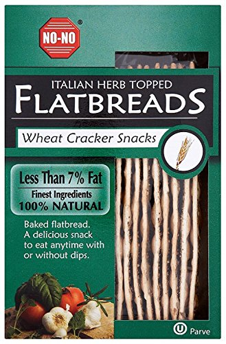 No-No Flatbread Italian Herb 125 g (Pack of 12)