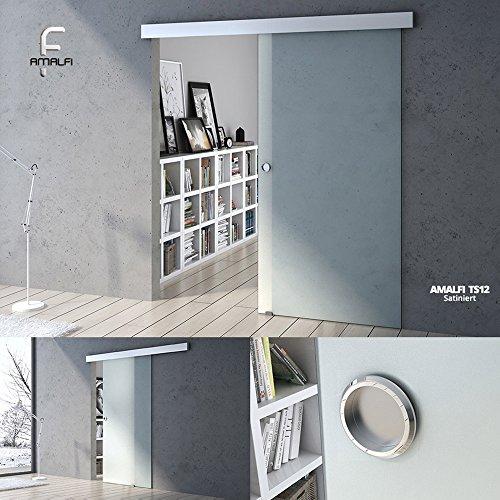 90x205 cm Design Glasschiebetür Amalfi TS12-900, ESG Sicherheitsglas satiniert