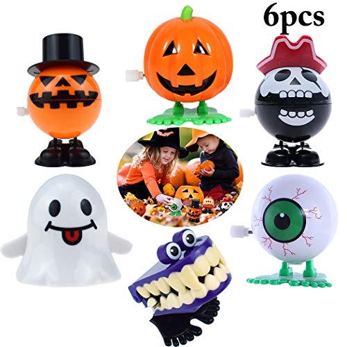 Joyibay 6 StÜcku Halloween Spielzeug Goody Bag Füllstoff für Kinder Kreative Verschiedene Wind up Spielzeug