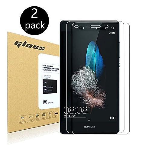 [2-Pack]Huawei P8 lite Protecteur d'écran,HoPerain[verre trempé] Protection écran,Dureté 9H,Anti Scratch,Anti-empreintes digitales