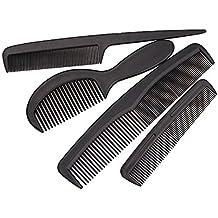 4pcs Peine de mango de plástico de desenredando el pelo cepillo alisador peine cortador de cabello