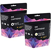 Cartridges Kingdom Compatibile Cartucce d'inchiostro Sostituzione per HP 56 HP 57 - Nero/Colore (KIT (56 Cartucce A Getto D'inchiostro Nero)