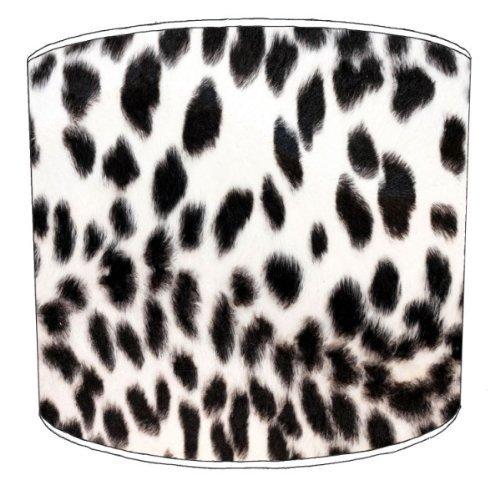 Premier Lampenschirme - Durchmesser 30cm Schwarzweiß-Tabelle Cheetah Animal Print Lampenschirme -