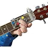 Loveablely Aide à l'enseignement du système d'apprentissage de la Guitare Copain d'accord Classique Blanc Appareil Chord Buddy Uniquement