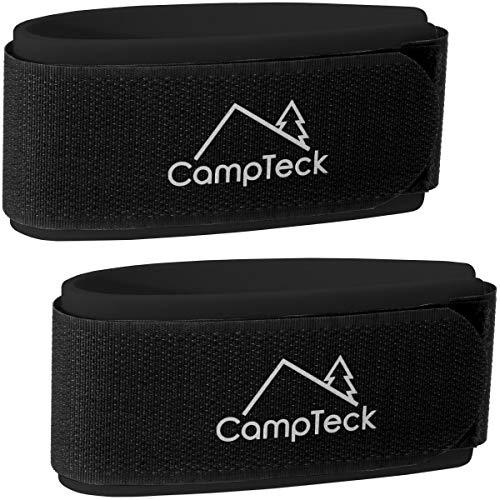 CampTeck U6890 - Ski Band, Skiclip - 1 Paar (2 Riemen) - Tragegurte für den leichten Transport, Reise und Aufbewahrung von Skiern - Schwarz