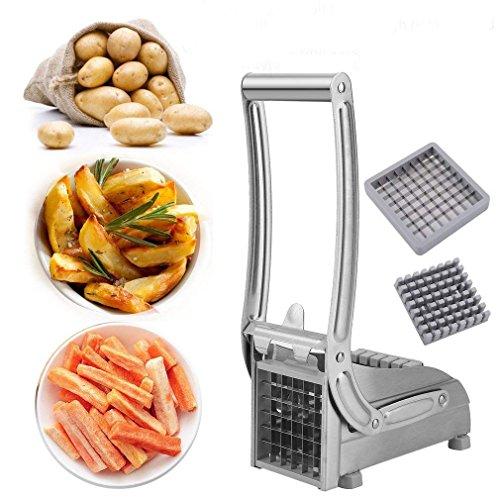 Civigroupey Pommes Frites Schneider, Edelstahl Pommes Frites - Schneider mit Schneideinsätze Für Dünne Oder Größere Fritten