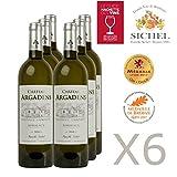 Château Argadens 2016 - Bordeaux blanx - Vin Blanc - 6 x 75cL