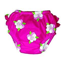 Iplay Baby Schwimmwindel MOD/ Ultimate Swim Diaper UV-Schutz 50+ Girls, Fuchsia Pansy L