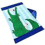 misslight Kinder 100% Premium Baumwolle schwimmen Kapuze, Strandtuch, Badetuch Creative und Cool Tier Kinder Poncho mit Kapuze für Jungen und Mädchen, Shark Playing, 76*127cm
