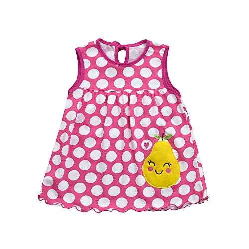 SuperSU Kleider Mädchen►▷ Baby Mädchen Sommerkleid Ärmellos Locker Karikatur Punkt Print Tanktop Kleider,Baby Bequeme Strandkleid Minikleid Pyjamaskleid Festliche Taufe Hochzeit -