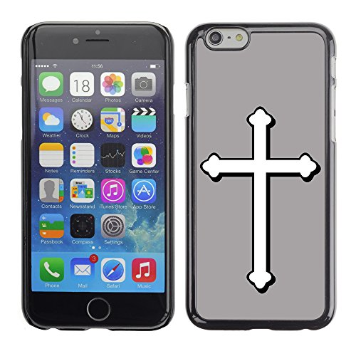 Graphic4You Kreuzr Design Harte Hülle Case Tasche Schutzhülle für Apple iPhone 6 / 6S (Rot) Grau