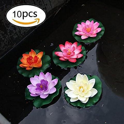 10 morceaux de 4 pouces flottants Fleur, étanche Fleur de