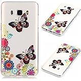 Uming® Pattern Print Imprimir patrón caso de TPU Case Cover ( Transparent Butterfly Flower - para Huawei Ascend P9Lite ) shell suave colorido cubierta Shell protector del teléfono móvil de la célula