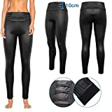 Trend4You Leggings/Treggings Glanz Look Bauchweg Effekt Formend Schwarz (44)