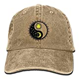 daawqee Baseball Caps Hats Sun Moon Adult Jeanet Hat for Boy Woman Unisex,Mens Females Hunting Cap Personality Caps Hats