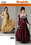 Simplicity Schnittmuster 7532 R5 Historisches Kostüm Gr. 40-48